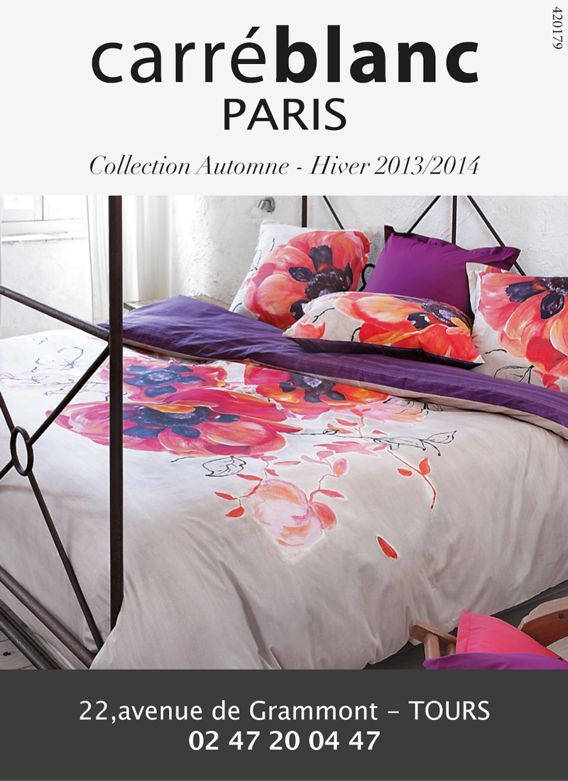 Carr blanc tours edith magazine for Linge de maison orleans