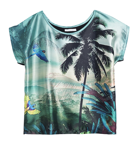 Tee-shirt imprimé jungle, Gemo 17,99 €