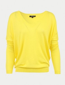 Pull maille cotton jaune citron Morgan de toi 35€