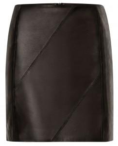 Jupe en cuir noir comptoir des cottoniers 245€