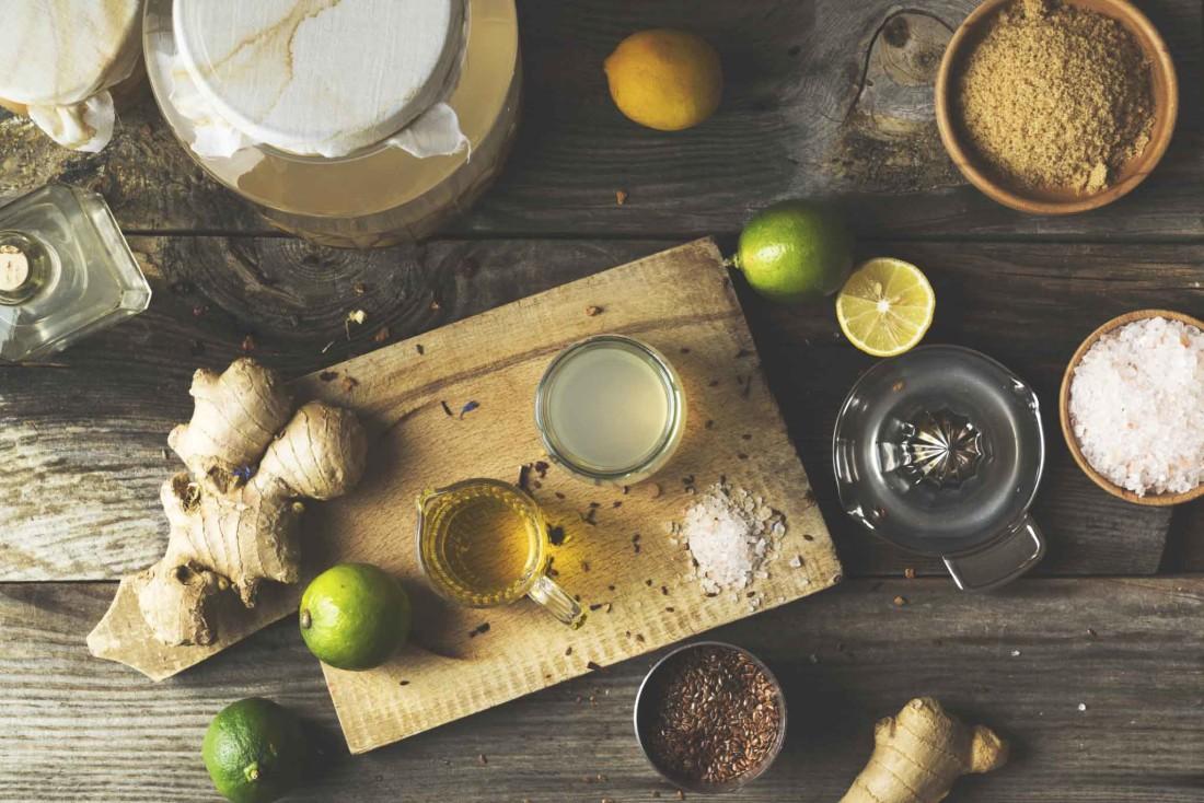 Making apple cider vinegar salad dressing